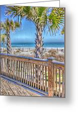 Deck On The Beach Greeting Card