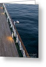 Deck Sea Greeting Card