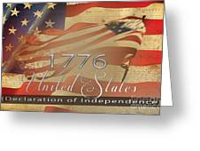 Declaration Of Independence  Greeting Card by Beverly Guilliams