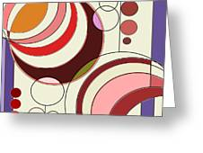 Deco Circles Greeting Card