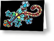 Deco Gecko Greeting Card