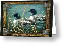 Deco Loons Greeting Card