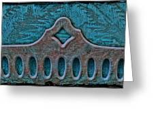 Deco Metal Blue Greeting Card