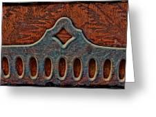 Deco Metal Red Greeting Card
