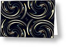 Deco Swirls Greeting Card