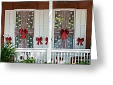 Decorated Christmas Windows Key West  Greeting Card