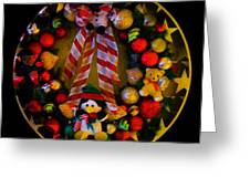 Decorated Wreath Greeting Card