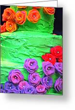 Decorative Cake. Greeting Card
