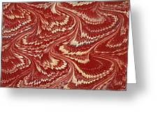 Decorative Endpaper From A Nineteenth Greeting Card