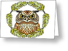 Decorative Illustration With An Owl Greeting Card