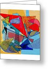 Decorative Interior Art Abstract Greeting Card
