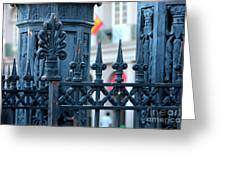 Decorative Iron Fence In New Orleans Greeting Card