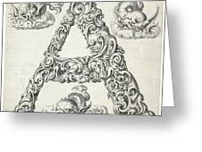 Decorative Letter Type A 1650 Greeting Card