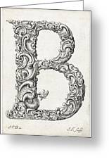 Decorative Letter Type B 1650 Greeting Card