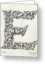 Decorative Letter Type E 1650 Greeting Card