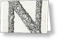 Decorative Letter Type N 1650 Greeting Card
