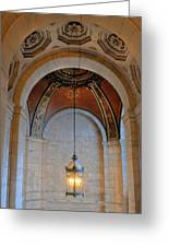 Decorative Light At The New York Public Library Greeting Card
