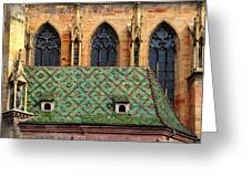 Decorative Roof Greeting Card