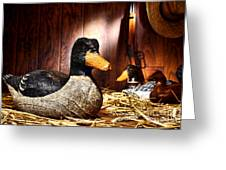 Decoy In Old Hunting Barn Greeting Card