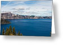 Deep Blue Crater Lake Greeting Card