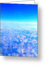 Deep Blue Sky And Clouds Greeting Card