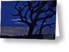 Deep - Blue - Sunset Greeting Card