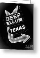Deep Ellum Black And White Greeting Card