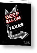 Deep Ellum In Red Greeting Card