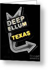 Deep Ellum In Yellow Greeting Card