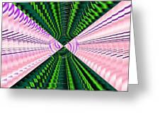 Deep Green And Pink Greeting Card