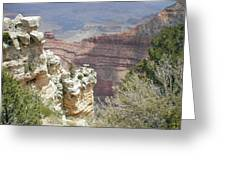 Deep In Canyon Greeting Card