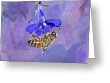 Deep In Purple Greeting Card