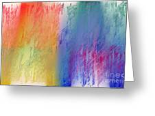 Deep Rich Sherbet Abstract Greeting Card
