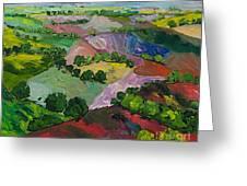 Deep Ridge Red Hill Greeting Card