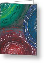 Deepen Abstract Shapes Greeting Card
