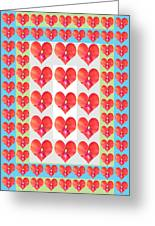Deeply In Love Cherryhill Flower Petal Based Sweet Heart Pattern Colormania Graphics Greeting Card