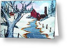 Deer At The Grist Mill Greeting Card