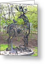 Deer Sculpture Greeting Card