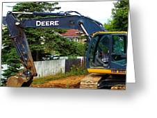Deere For Hire Greeting Card
