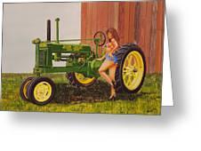 1938 Model B John Deere Greeting Card