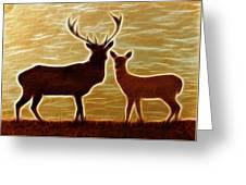 Deers Lookout Greeting Card