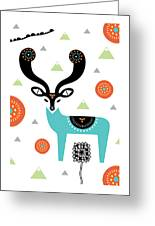 Deery Mountain Greeting Card