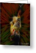Def Leppard-adrenalize-joe-gb22-fractal-1 Greeting Card