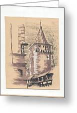 Defensive Bastion Cracow Greeting Card
