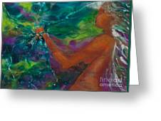 Defining Her Essence Greeting Card by Ilisa Millermoon