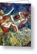 Degas' Four Dancers Up Close Greeting Card