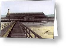 Del Monte Bathhouse From Pier California  Circa 1890 Greeting Card