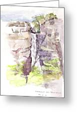Del Sano Falls Greeting Card