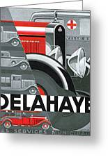 Delahaye Cars - Vintage Poster Greeting Card