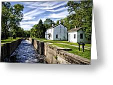 Delaware Canal Kingston New Jersey Greeting Card